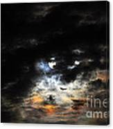 Glorious Gibbous - Wide Version Canvas Print