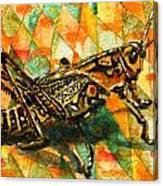 Glorious Grasshopper Canvas Print