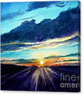 Glory Of The Sunset 2 Canvas Print