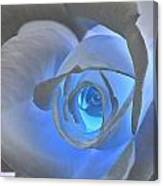 Glowing Blue Rose Canvas Print