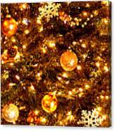 Glowing Golden Christmas Tree Canvas Print