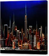 Glowing New York Canvas Print