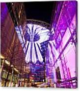 Glowing Sony Center Canvas Print