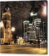 Gm Building Detroit Mi Canvas Print