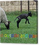 Go Outside And Play Rainbow Canvas Print
