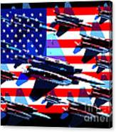 God Bless America Land Of The Free 2 Canvas Print