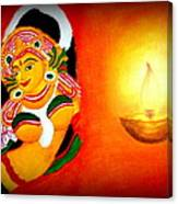Goddess Of Art Canvas Print