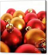 Gold And Red Xmas Balls Canvas Print