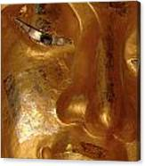 Gold Face Of Buddha Canvas Print