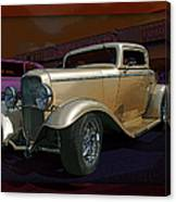 Gold Hot Rod Canvas Print