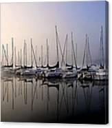 Gold N Blue Sailboats Too Canvas Print