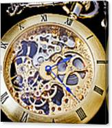 Gold Pocket Watch Canvas Print