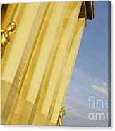 Gold Statue . Trocadero. Paris Canvas Print