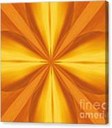 Golden 4 Leaf Clover  Canvas Print