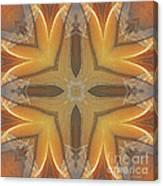 Golden Abstarct Energy Canvas Print