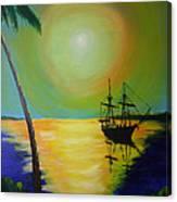 Golden Anchorage Canvas Print