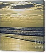 Golden Blue Canvas Print