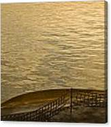 golden evening light on a Washington state ferry Canvas Print
