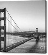 Golden Gate Black And White Canvas Print