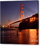 Golden Gate Bridge At Night 2 Canvas Print