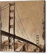 Golden Gate Bridge Sepia Canvas Print