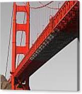 Golden Gate Bridge-touch Of Color Canvas Print