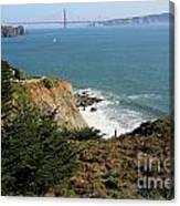 Golden Gate Bridge Viewed From The Marin Headlands Canvas Print