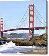 Golden Gate On A Sunny Day Canvas Print