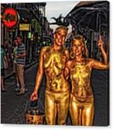 Golden Girls Of Bourbon Street  Canvas Print