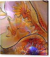 Golden Glass Waves Canvas Print