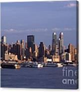 Golden Glow Of New York City Canvas Print