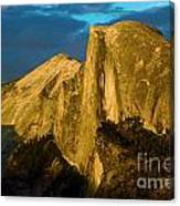 Golden Half Dome Canvas Print