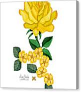 Golden January Rose Canvas Print