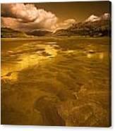 Golden Landscape Canvas Print