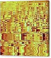 Golden Ripples Abstract Canvas Print