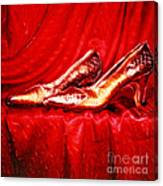 Golden Shoes - Pholaroid Sx-70 Canvas Print