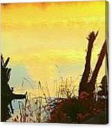 Golden Silhouette Canvas Print