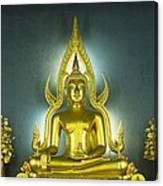 Golden Sitting Buddha Canvas Print