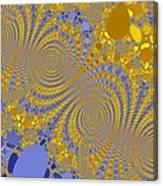 Golden Vortices Canvas Print