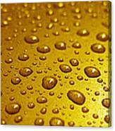 Golden Water Drops. Business Card. Invitation Etc. Canvas Print