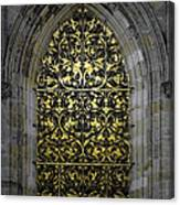 Golden Window - St Vitus Cathedral Prague Canvas Print