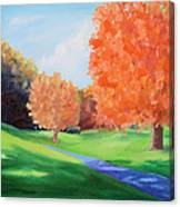 Golf Course In The Fall 1 Canvas Print