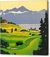 Golfing In Lausanne Canvas Print