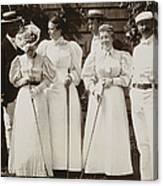 Golfing Party, C1895 Canvas Print