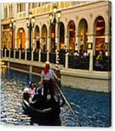 Gondola Ride Inside Venetian Hotel Canvas Print