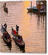 Gondolieri. Venezia. Italia Canvas Print