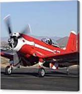 Goodyear F2g-1 Corsair N5588n Race 57 Falcon Field Arizona December 27 2011 Canvas Print