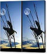 Goose At Dusk - Cross Your Eyes And Focus On The Middle Image Canvas Print