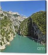 Gorges Du Verdon River From Sainte-croix Lake Canvas Print