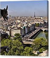 Gorgyle View Of Paris Canvas Print
